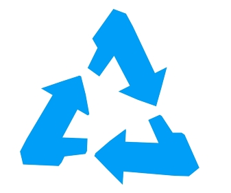 青いリサイクルマーク