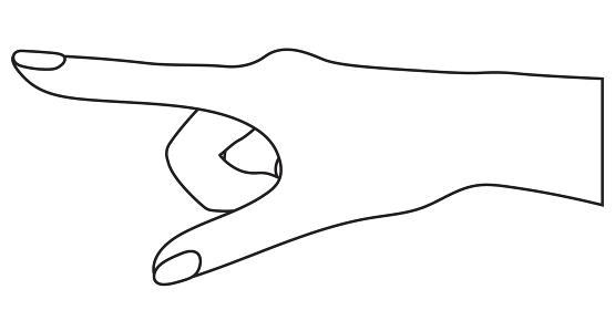 指さしのイラスト 白黒