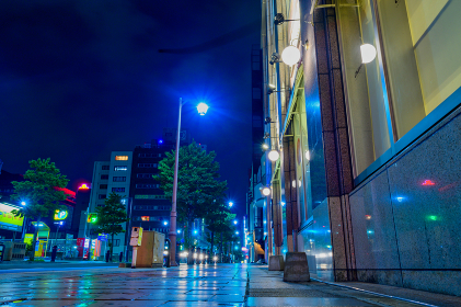 夜の街角 福岡県北九州市