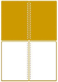 スケッチブック リングノート 表紙とページのセット イラスト ベクター ※A4のサイズ