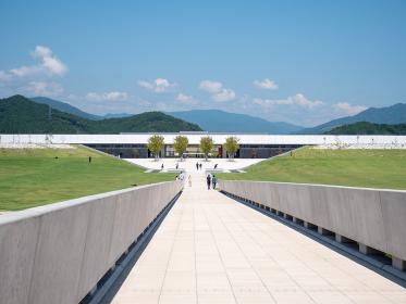 夏の青空と陸前高田の風景