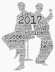 Business 2017 word cloud concept in shape business mans