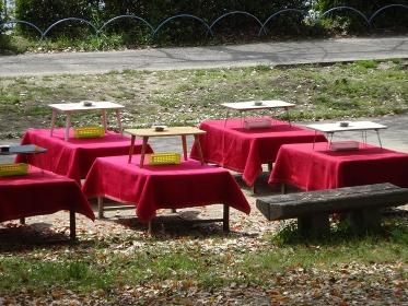 花見のテーブル