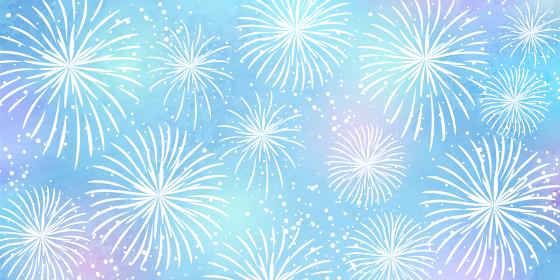 淡い水彩風の花火の壁紙のベクターイラスト背景