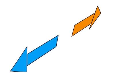 斜めから見た左右の矢印