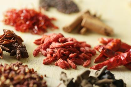 中華料理の香辛料と中華素材