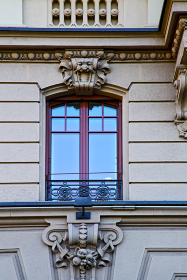 old wall window in the   centre   of city lugano Switzerland Swiss