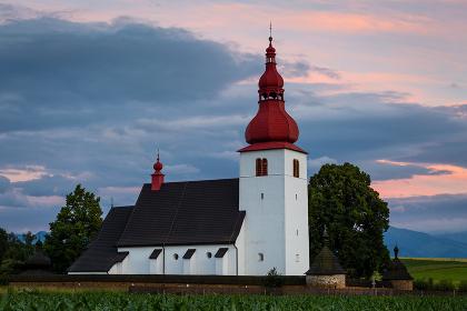 Gothic church in a village of Liptovske Matiasovce in Liptov region.