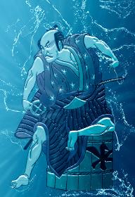 浮世絵 歌舞伎役者 その18 水バージョン