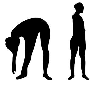 体をほぐすラジオ体操のシルエット