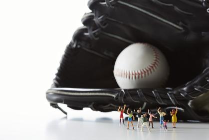 フィギュア 野球を応援する観客