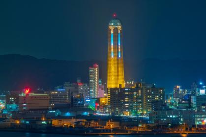 和布刈公園第二展望台から見る下関の観光地夜景【山口県】