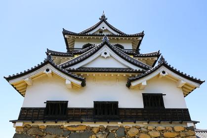国宝・彦根城の天守閣(彦根市・岐阜)
