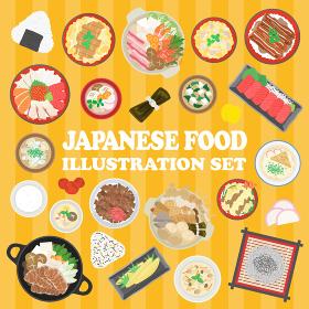 日本食のイラストセット