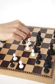 チェスをする手