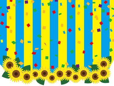 夏の花 ひまわりのシンプルフレーム
