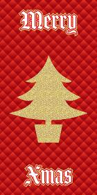 ウィンターセールバナー縦|販売促進用テンプレート|クリスマスツリーとグリッドの背景