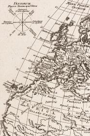 古地図 アフリカとヨーロッパ