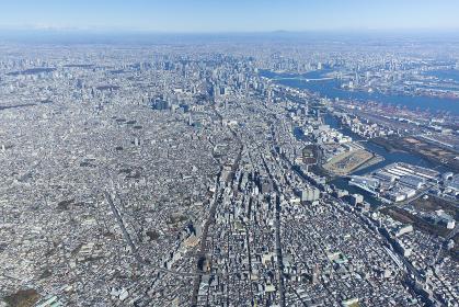 東京都心部を南側から撮影