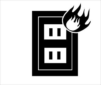 コンセントから火が出るイメージ