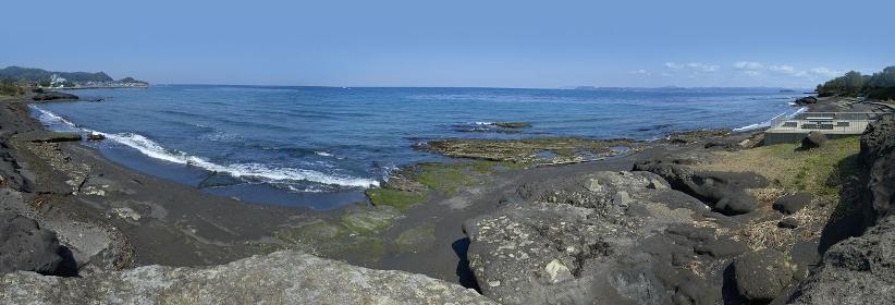 館山湾のパノラマ