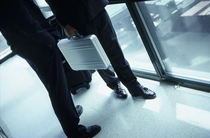 ビジネスマンの足