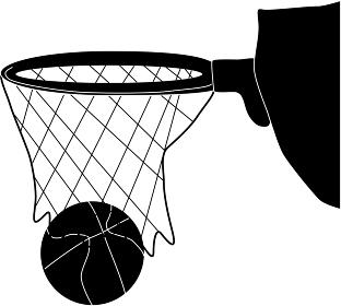 点が入るバスケのシルエット
