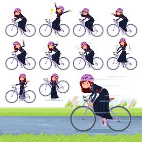 flat type Bad student girl_road bike