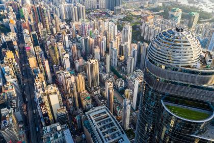 Mong Kok, Hong Kong 04 September 2018:- Hong Kong sunset