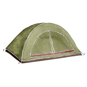 登山 アウトドア キャンプ 道具 アイテム テント 水彩 イラスト