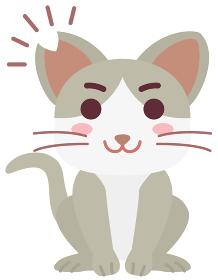 去勢手術と耳カットをした地域猫の男の子
