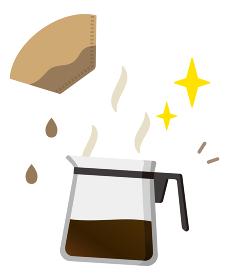 コーヒーサーバーとコーヒーフィルター