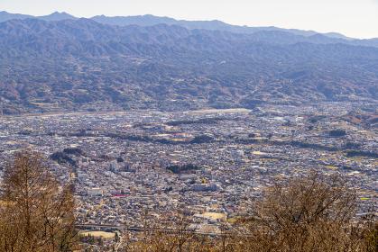 長野県飯田市 虚空蔵山から見える飯田市、高森町、喬木村の遠景 2020年撮影