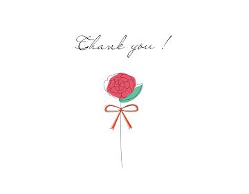 シンプルな赤い花のベクターイラスト