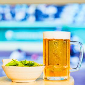 ビール 枝豆 スポーツ観戦【 夏 の イメージ 】
