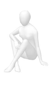 ホワイトモデル体育座り