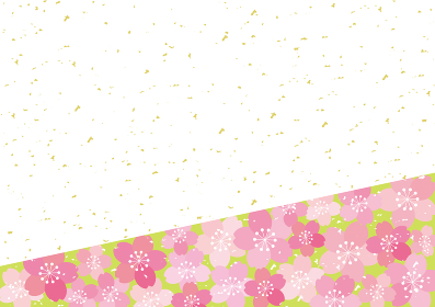 和風 桜 POP チラシ フレーム 背景 ベクター 21