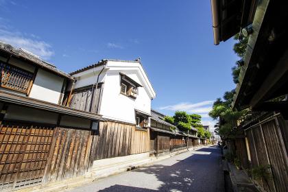 近江商人屋敷が並ぶ街並み