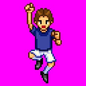 サッカー男性ジャンプ