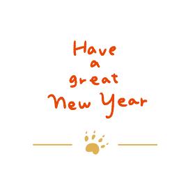 新年の挨拶 手書き風の文字素材