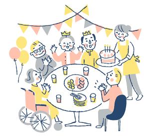 老人ホーム(誕生日パーティー)