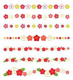 梅の花 装飾ラインセット