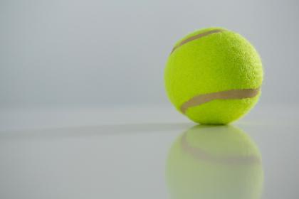 Close up of fluorescent tennis ball