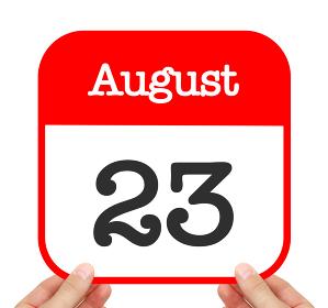 August 23 written on a calendar