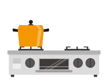 コンロのベクターイラスト セット ガス