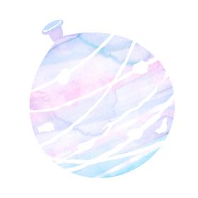 暑中見舞い・残暑見舞いで使える夏の風物詩 水彩イラスト / 水風船・ヨーヨー
