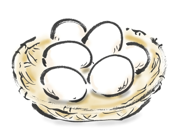 和風手描きイラスト素材 卵 玉子 たまご 生卵, 生, なま卵