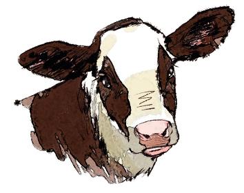 丑 牛 うし ウシ 顔 子牛 ホルスタイン 干支 十二支