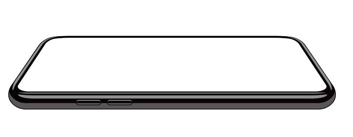 汎用スマートフォンフレーム(リアル) 絵型/モック 斜めイラスト