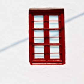 in   greece   europe     old   architecture and venetian blind wall